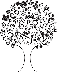 images for tree black and white drawing clip art library