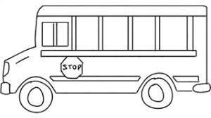 man sketching bus van on whiteboard background animated sketch