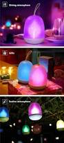 portable colorful usb led flame night light timer atmosphere
