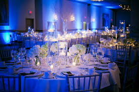 blue and white centerpieces for wedding wedding decoration