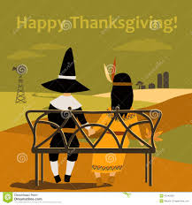 thanksgiving and indians thanksgiving card with dressed up kids stock vector image 45245906