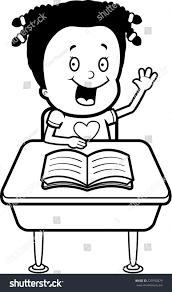 Student At Desk by Happy Cartoon Child Student Desk School Stock Vector 229792879