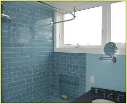 glass subway tile bathroom ideas mesmerizing bathroom ideas blue subway tile with small windows