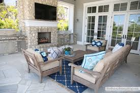 Turquoise Patio Chairs Outdoor Entertaining Area The Sunny Side Up Blog