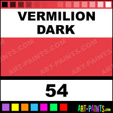 vermilion dark pro color 12 set watercolor paints 54 vermilion