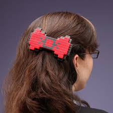 hair bows for 8 bit hair bow thinkgeek