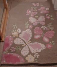 Pottery Barn Rugs Kids Pottery Barn Kids Camille Butterfly Rug 3x5 Brand New Pottery
