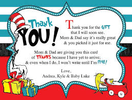 baby shower thank you cards dr seuss baby shower thank you card blackline