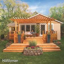 Build A Pergola On A Deck by Deck Designs The Family Handyman