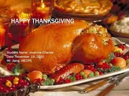 happy thanksgiving student name getchine marcelus date november