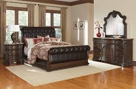 monticello bedroom set monticello 6 piece king upholstered sleigh bedroom set pecan
