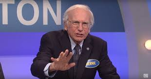 larry david made a valiant return as bernie sanders on snl and of