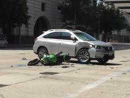 motorcyclist seriously injured in pasadena crash crime scene