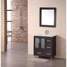 Bathroom Vanities 30 Design Element Stanton 30 Inch Espresso Drop In Sink Bathroom