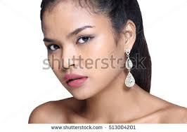 earing model skin model girl diamond earring stock photo 513004201
