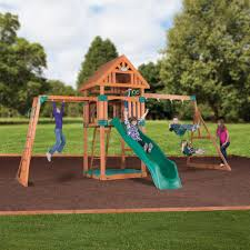 backyard discovery capitol peak wooden swing set free delivery