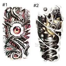 3 52 1 sheet red eye heart chain lock tattoo decals body art