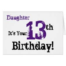 daughter 13th birthday cards greeting u0026 photo cards zazzle