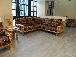Cabin Sofa Log Living Room Furniture Norseman Sofa Rustic Furniture Mall By