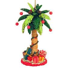 festive palm tree ornament great outdoors animal birds