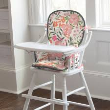 coral pink tropic floral high chair pad carousel designs