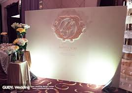 wedding entrance backdrop gudy wedding 婚禮設計 wedding deco 大直典華 簡約菱格香檳金婚禮