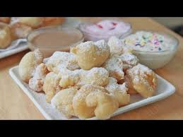 easy funnel cake bites 3 dipping sauces youtube
