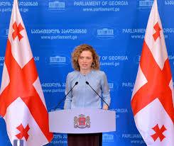 Georgian Flag Tamar Khulordava Congratulated Georgian Citizens With Enactment Of