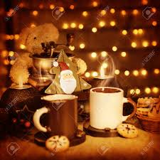 Beautiful Coffee Cups Image Of Beautiful Christmastime Still Life Traditional