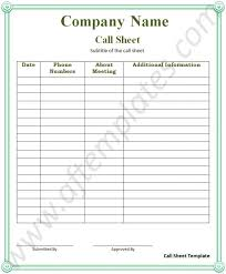 call sheet template word templates ms word templates selimtd
