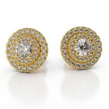 gold diamond earrings gold diamond earrings diamondstud