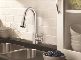 pull kitchen faucet brushed nickel chrome finish contemporary pull kitchen faucet with plan 8