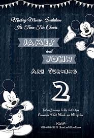 wood work mickey mouse invitation design template in word psd