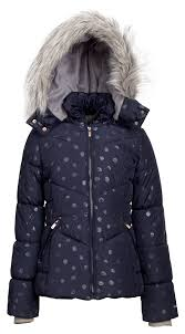 london fog girls down alternative hooded winter snow puffer bubble