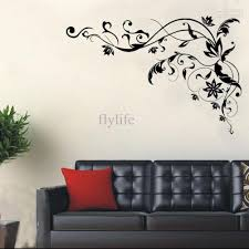 home decor wall large black vine wall decals diy home wall decor stickers for