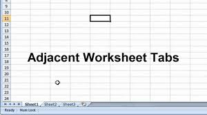 how to select sheets excel 2007 selecting multiple worksheets youtube