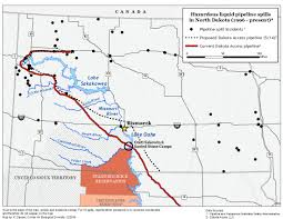 Map North Dakota Analysis North Dakota Pipelines Average Four Spills Per Year 3