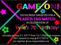 laser tag party invitation printable digital file by khudd on etsy