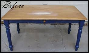 Refinishing Dining Room Table by Refinished Table Theremadehome