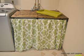 Utility Sinks For Laundry Rooms by Make It Mommy Laundry Room Makeover Part 2 Utility Sink Skirt