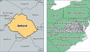 amherst map amherst county virginia map of amherst county va where is