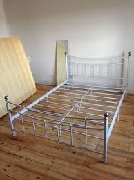 white darla vintage metal double bed frame argos in penryn