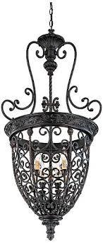 wrought iron foyer light french scroll 22 1 2 w 9 light bronze iron foyer chandelier style