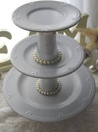 cake cupcake stand 3 tier elegant blue by richindaughters on etsy