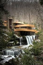 Frank Lloyd Wright Falling Water Interior House Over Falling Water Fallingwater House Over Waterfall Frank