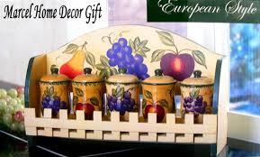 tuscan kitchen canisters kitchen decor fruit design tuscany spice rack canister marcel