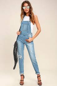 glamorous clothing cool light wash overalls distressed overalls denim overalls