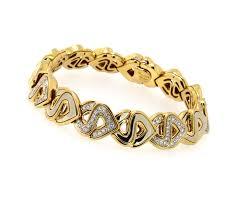 gold link bracelet with diamonds images Marina b jewelry s link bracelet with diamonds 18k yellow jpg