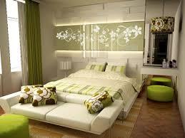 fancy green bedroom with stylish headboard lighting comfortable