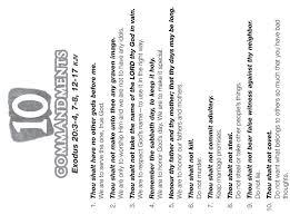 ten resume writing commandments ten commandments coloring page 10 commandments color sheet arts